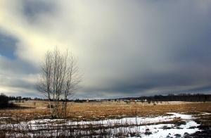 Снеговые облака проходят мимо