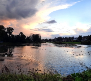 Банный пруд вечером