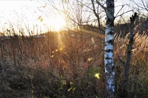 Ранние закаты в октябре