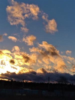 Вечерние облака в октябре