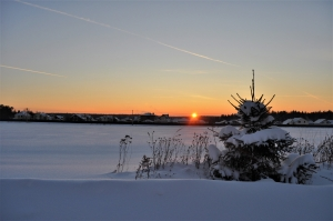 Закат в трескучий мороз