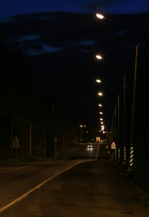 Ночью на Бетонке. д. Воронино