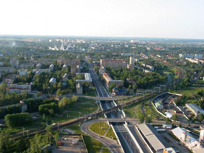 Вид на Сергиев Посад с юга